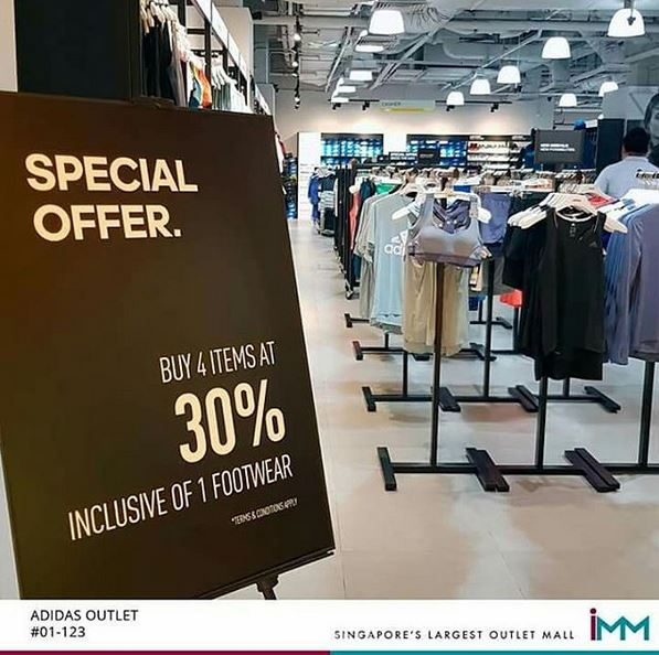 0471340422eb Discount 30% from Adidas at IMM Outlet Mall - IMM Singapore s ...