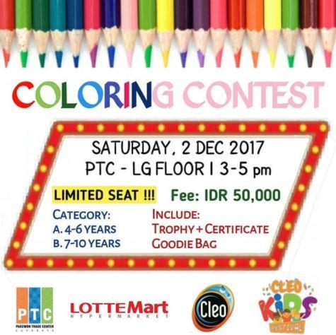 Coloring Contest at Pakuwon Trade Center