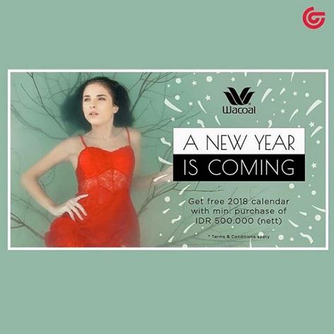 Free Calendar 2018 from Wacoal at Matahari Department Store