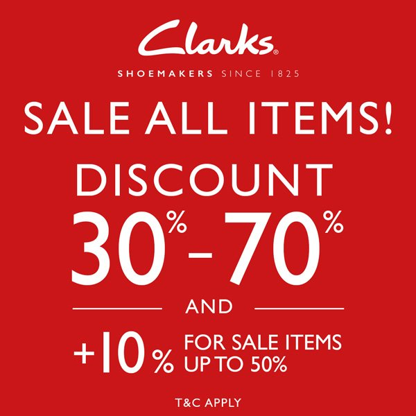 Discount Up to 70% from Clarks