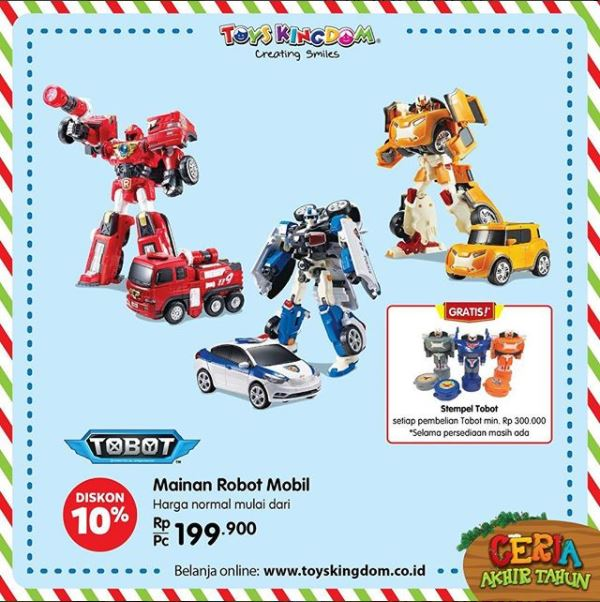 Discount 10% from Toys Kingdom