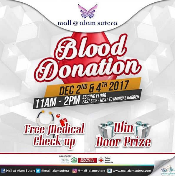 Event Blood Donation at Mall @ Alam Sutera
