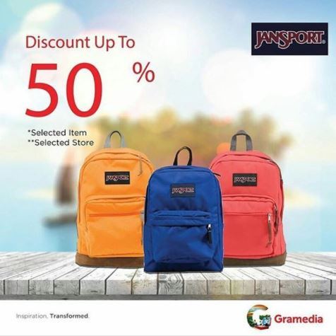 Discount Up To 50% Jansport at Gramedia