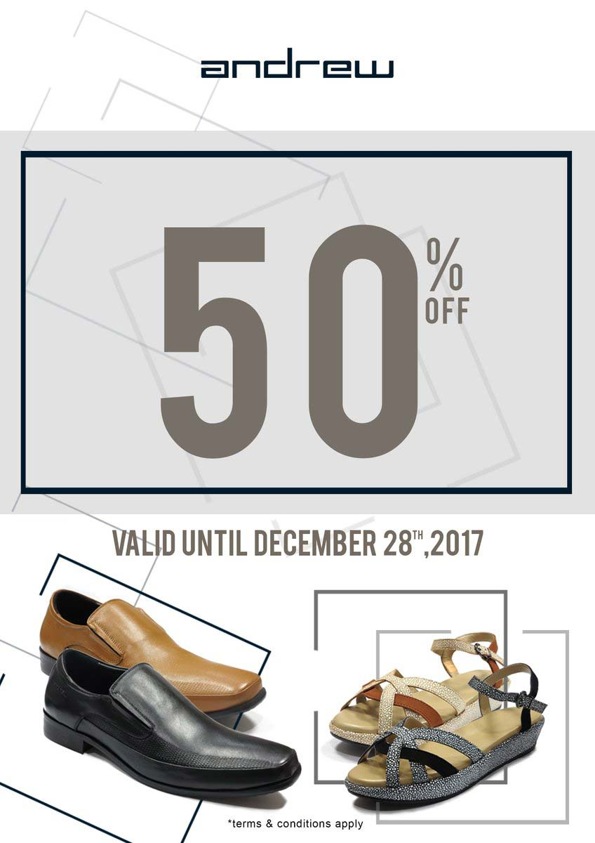 Discount 50% from Andrew Shoes