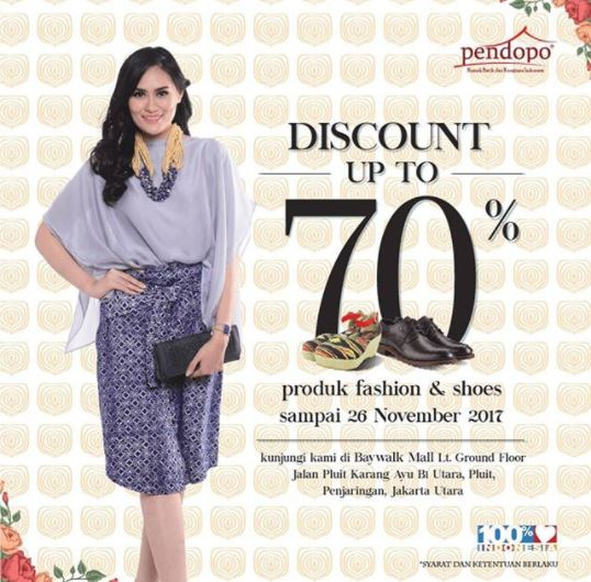 Discounts up to 70% of the verandah at the Baywalk Mall