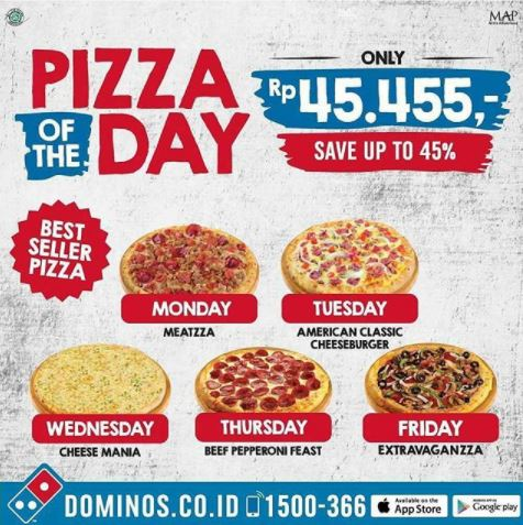 Discount 45% at Dominos Pizza