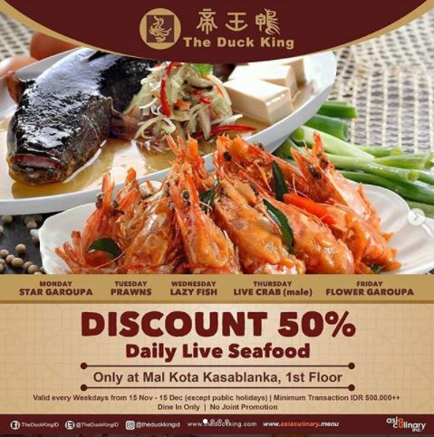 Discount 50% at The Duck King Kota Kasablanka