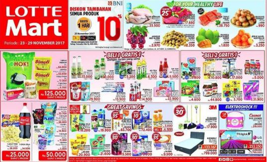 Discounts up to 30% at Lotte Mart