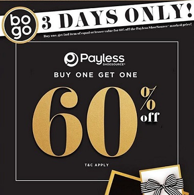 3 Days Only Special Promo at Payless