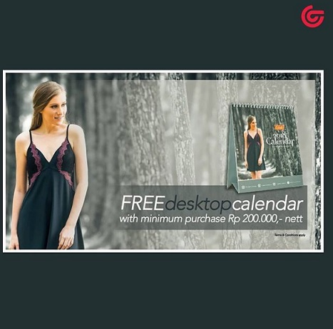Free Dekstop Calendar Luludi at Matahari Department Store