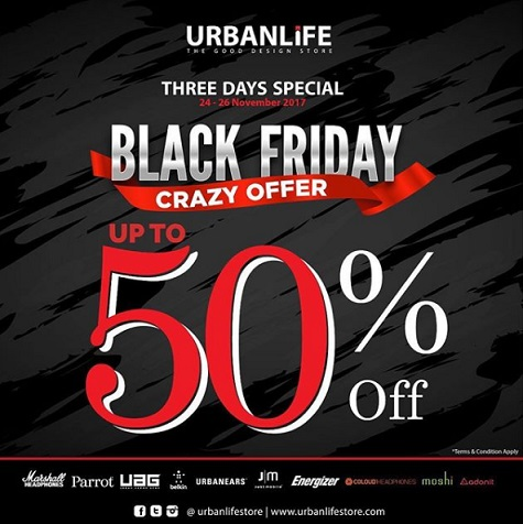 Black Friday Promo Discount Up to 50% at Urban Life