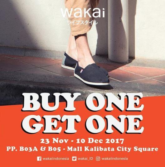 Promo Buy 1 Get 1 Free dari Wakai di Kalibata City Square