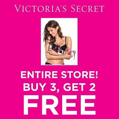 Buy 3 Get 2 Free from Victoria's Secret