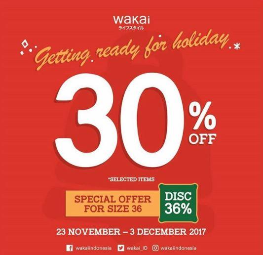 Discount 30% from Wakai