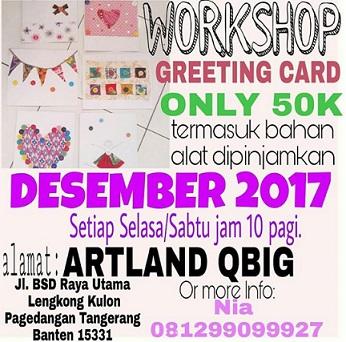 Workshop Greeting Card at Artland QBig BSD City