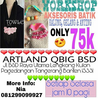 Workshop Aksesoris Batik di Artand QBig BSD City