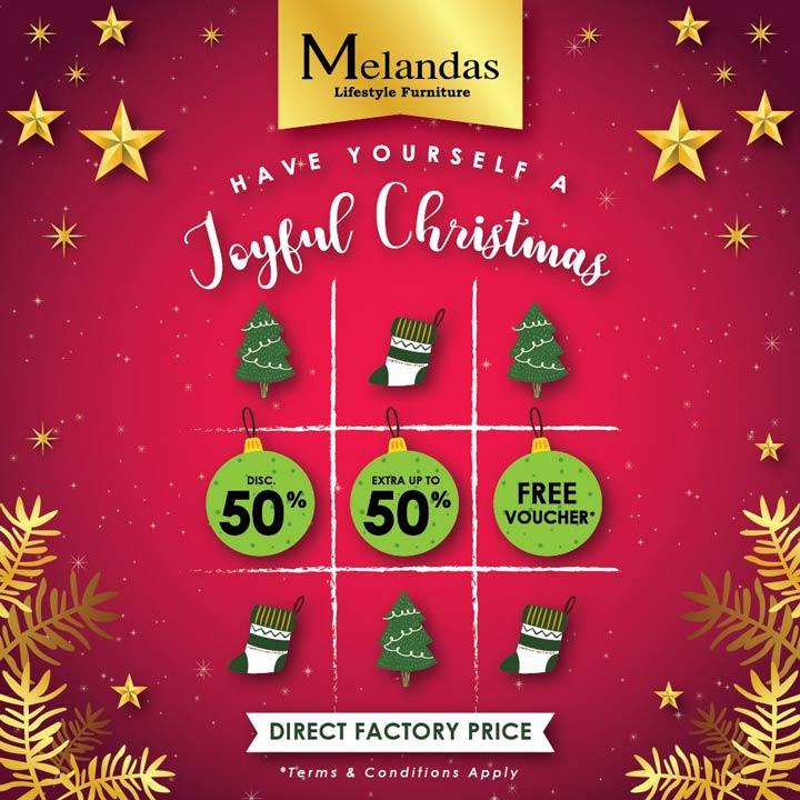 Joyful Christmas Promotions from Melandas - Gotomalls