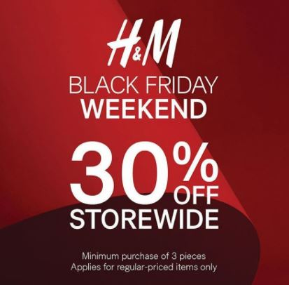Discount 30% from H&M