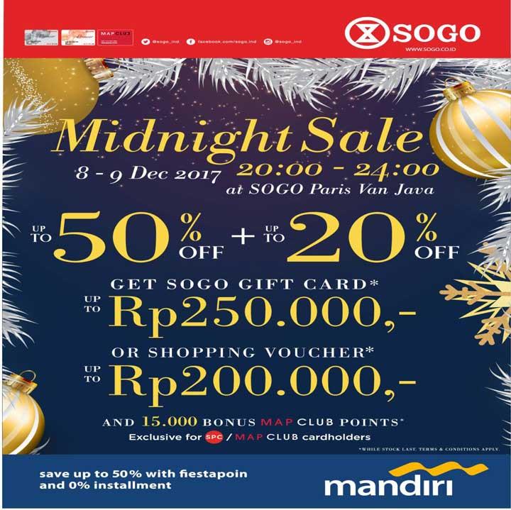 Midnight Sale from Sogo Dept Store at Paris Van Java</h3>
