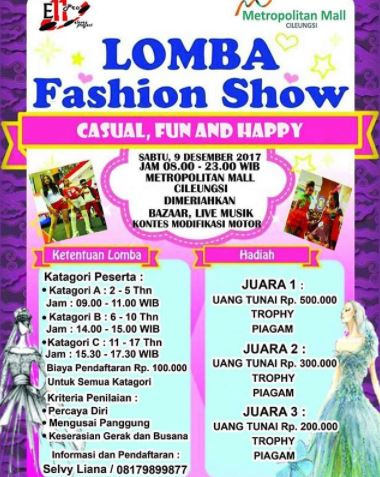 Fashion Show at Metropolitan Mall Cileungsi