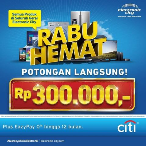 Discount Rp 300.000 in Electronic City</h3>