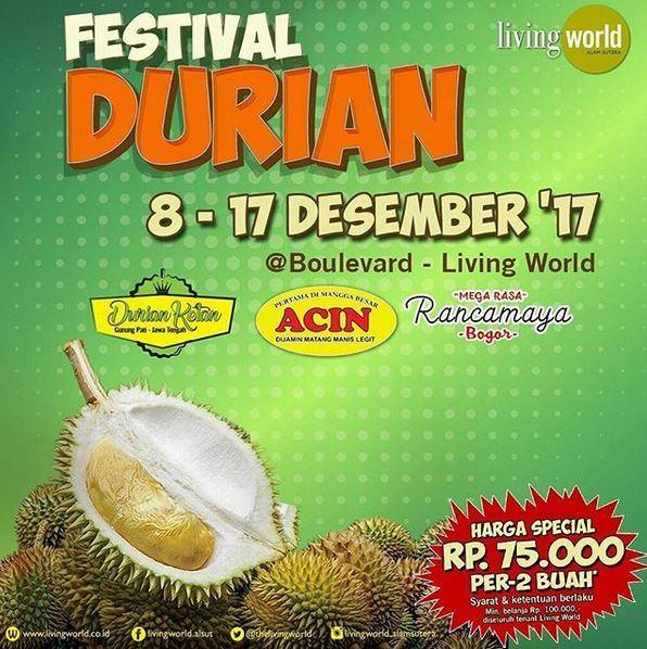 Festival Durian at Living World Alam Sutera