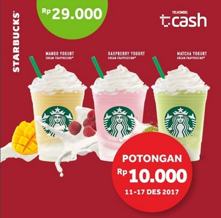 Promo Discount Rp 10,000 from Starbucks