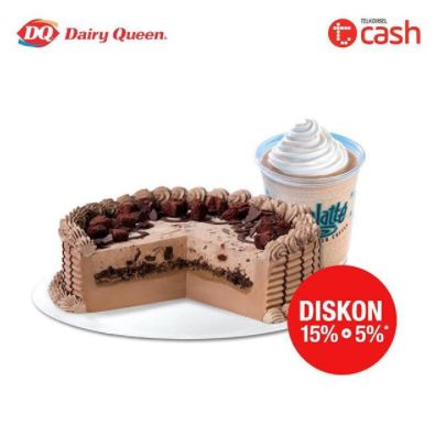 15% + Cashback 5% discount on Dairy Queen
