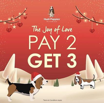 Promo Beli 2 Gratis 1 dari Hush Puppies