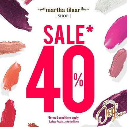 Discount 40% Sariayu Lipstick at Martha Tilaar