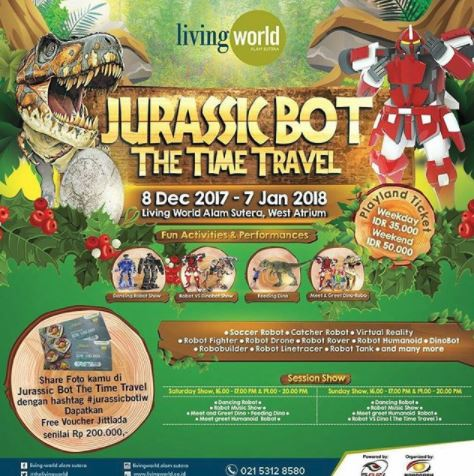 Jurassic Bot The Time Travel at Living World Mall Alam Sutera