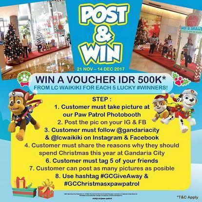 Post & Win at Gandaria City