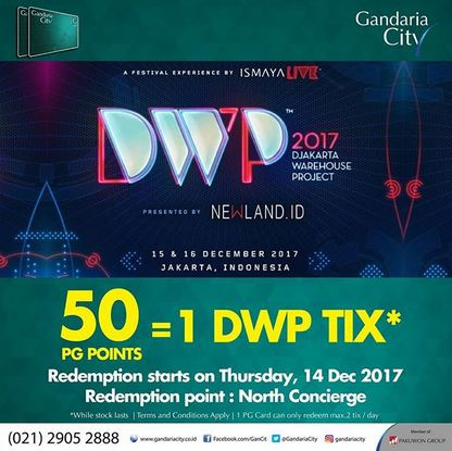 Free DWP Tix at Gandaria City