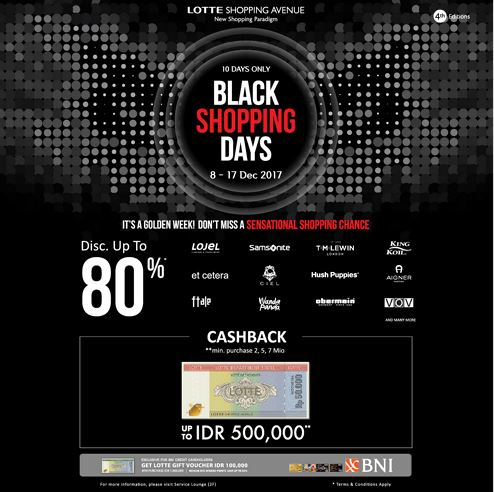 Black Shopping Days at Lotte Shopping Avenue