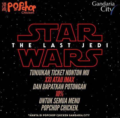 Discount 10% at Pop Chop Chicken Gandaria City