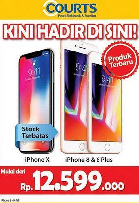 Promosi iPhone X di Courts - Mall BTM Bogor 6c31754661