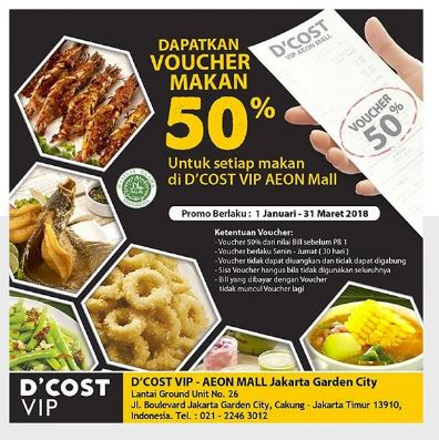 Get 50% Eating Voucher from D'Cost at AEON ...