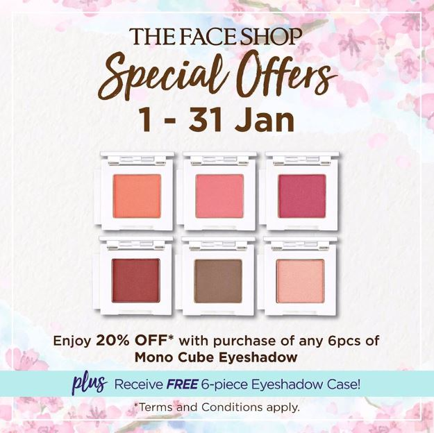 Mono Cube Eyeshadow Promotion at The Face Shop - Gotomalls