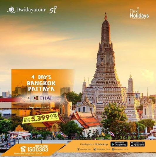 Explore Bangkok and Pattaya with Dwidaya Tour