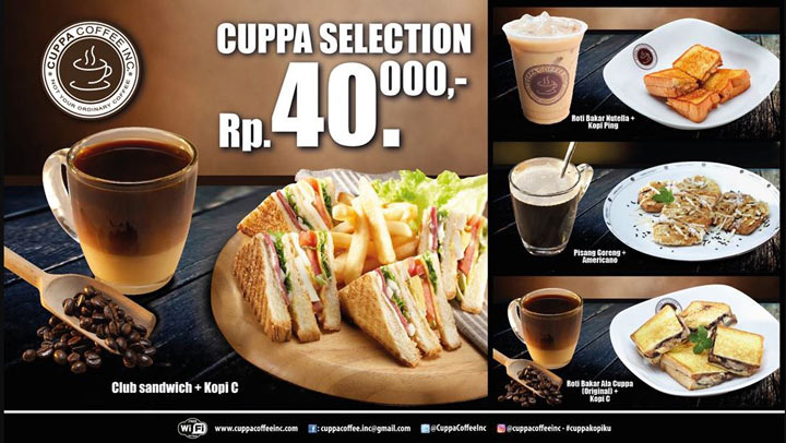 Promo Cuppa Selection from Cuppa Coffee