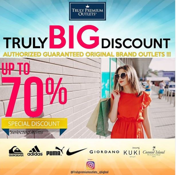 Discount Up to 70% dari Truly Premium Outlets