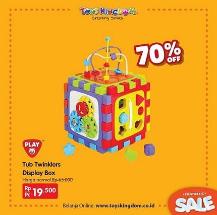 Promo Discount 70% Tub Twinklers Display Box at Toys Kingdom