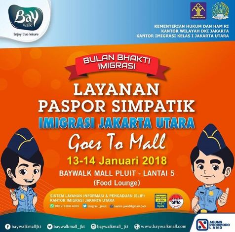 Immigration Simpatik Passport Service North Jakarta at Baywalk Mall