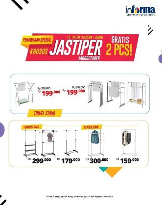 Get Free Jastiper Promotion 2 pcs at Informa