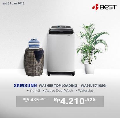 Get Special Price Promo Washer Samsung at Best Denki