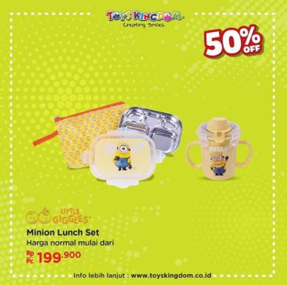 Promo Discount 50% Minion Lunch Set at Toys Kingdom