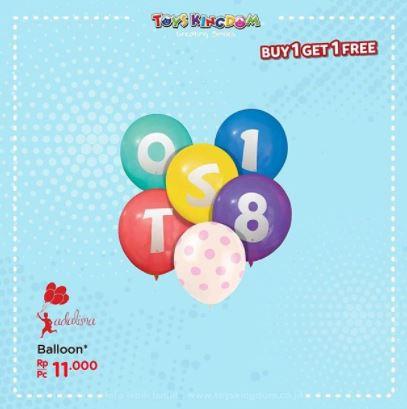 Promo Buy 1 Free 1 Ballon in Toys Kingdom