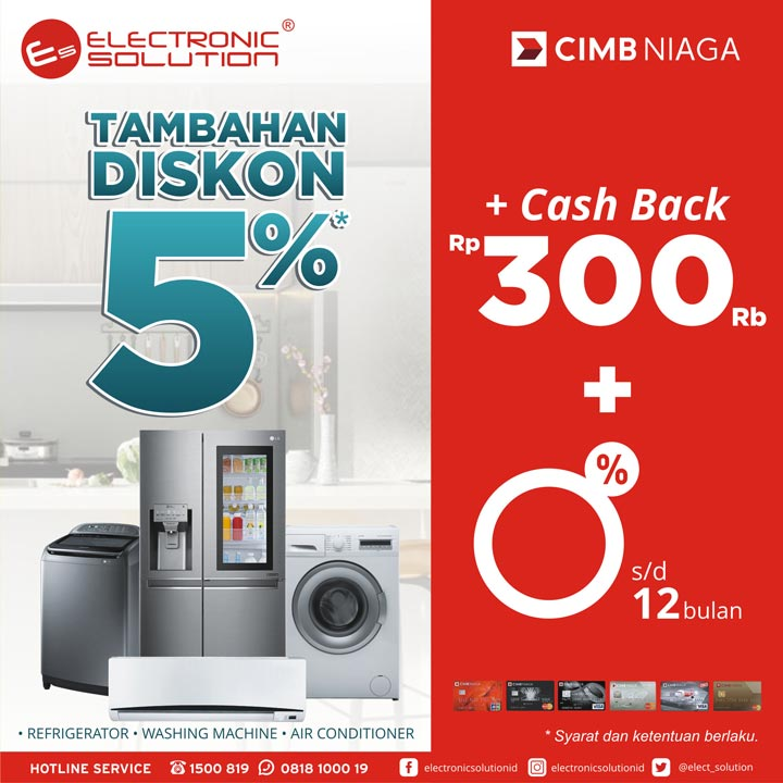 Additional Discount 5% from Electronic Solution