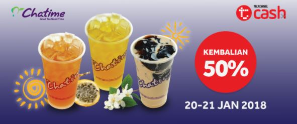 Cashback 50% at Chatime