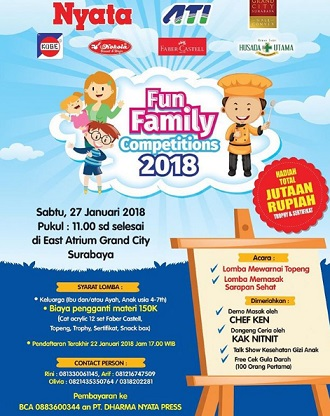 Fun Family Competitions 2018 Di Grand City Surabaya Gotomalls